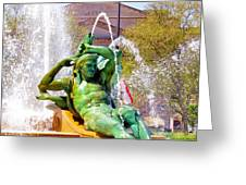 Swann Fountain Gods Greeting Card