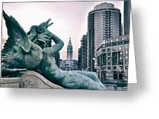 Swann Fountain Statue Greeting Card