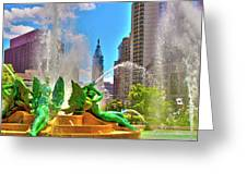Swann Memorial Fountain - Hdr Greeting Card
