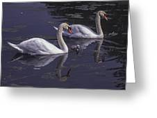 Swans And Signet Greeting Card
