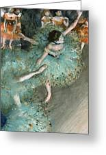 Swaying Dancer .dancer In Green Greeting Card