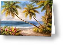 Swaying Palms Greeting Card