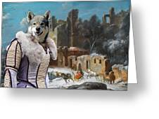 Swedish Elkhound - Jamthund Art Canvas Print  Greeting Card