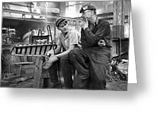 Swedish Foundry Workers Greeting Card