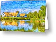 Swedish Lakehouse Greeting Card