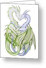 Swedish Love Dragons Greeting Card