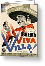 Swedish Poster #1   Viva Villa 1934-2008 Greeting Card