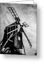 Swedish Windmill One Of The 400 Year Old Greeting Card