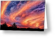 Sweeping Sunset Greeting Card