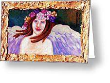 Sweet Angel Greeting Card by Genevieve Esson