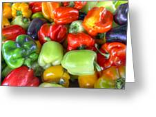 Sweet Bell Peppers Assorted Colors Greeting Card