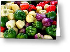 Sweet Bell Peppers Greeting Card