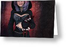 Sweet Betty With Gothic Doll Greeting Card