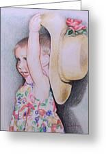 Sweet Caroline Greeting Card by Kathy Weidner