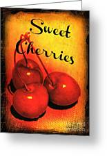 Sweet Cherries - Kitchen Art Greeting Card