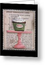 Sweet Chocolate Cupcake Greeting Card