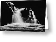 Sweet Creek Falls Oregon Monochrome Greeting Card