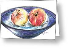 Sweet Crunchy Apples Greeting Card