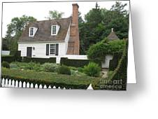 Sweet Home In Colonial Williamsburg Greeting Card