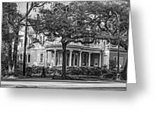 Sweet Home New Orleans Bw Greeting Card