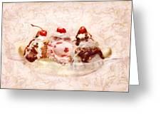 Sweet - Ice Cream - Banana Split Greeting Card