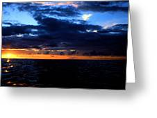 Sweet Mystery... Last Glimmering Off Guadeloupe Greeting Card