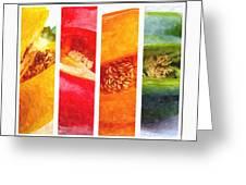 Sweet Pepper Watercolor Greeting Card
