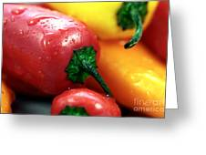 Sweet Peppers Greeting Card by John Rizzuto