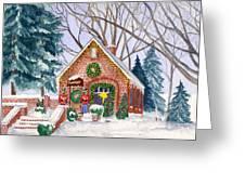 Sweet Pierre's Chocolate Shop Greeting Card by Rhonda Leonard