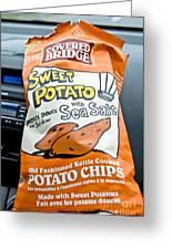 Sweet Potato Chips Greeting Card