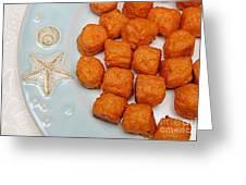 Sweet Potato Puffs Greeting Card