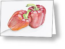Sweet Red  Paprika Pepper Greeting Card