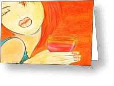 Sweet Tarte Greeting Card by Debi Starr