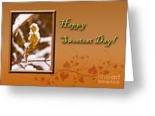 Sweetest Day Leaf Greeting Card