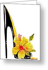 Sweetheart Hibiscus Stiletto Greeting Card