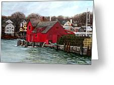 Swells In The Harbor Greeting Card