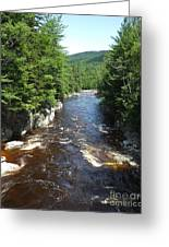 Swift River Below Rocky Gorge New Hampshire White Mountains Greeting Card