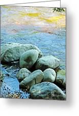 Swift River Rock Kancamagus Highway Nh Greeting Card