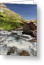 Swiftcurrent River At Many Glacier Greeting Card