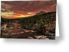 Swiftcurrent River Sunrise Greeting Card