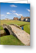 Swilcan Bridge On The 18th Hole At St Andrews Old Golf Course Scotland Greeting Card