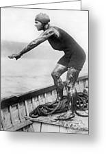 Swimmer Clemington Corson Greeting Card