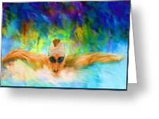 Swimming Fast Greeting Card