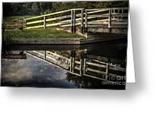 Swing Bridge Reflected Greeting Card