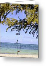 Swing Front Of The Ocean Greeting Card