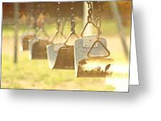 Swing With Nature Greeting Card