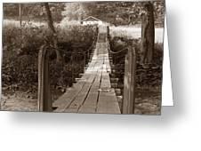 Swinging Bridge Greeting Card