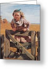 Swinging On A Gate Detail Greeting Card