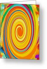 Swirl 80 Greeting Card