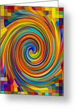 Swirl 83 Greeting Card